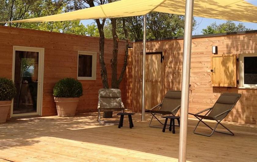 Location de vacances - Insolite à Richerenches - La réception, accueil des Lodges en Provence