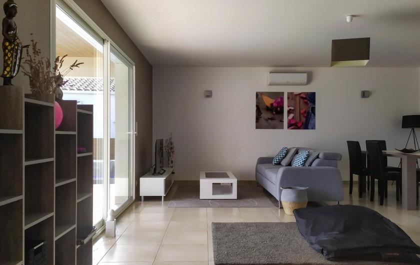 Location de vacances - Villa à Lézignan-Corbières - Salon