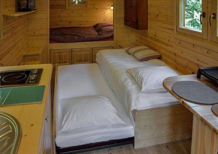 Location de vacances - Roulotte à Pernes-les-Fontaines - 2 lits 80 cm