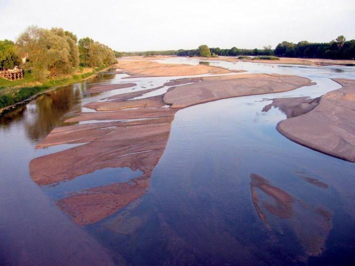 Location de vacances - Appartement à Pouilly-sur-Loire - Bancs de sable en été