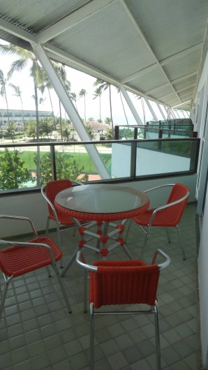 Location de vacances - Appartement à Porto de Galinhas - Balcon