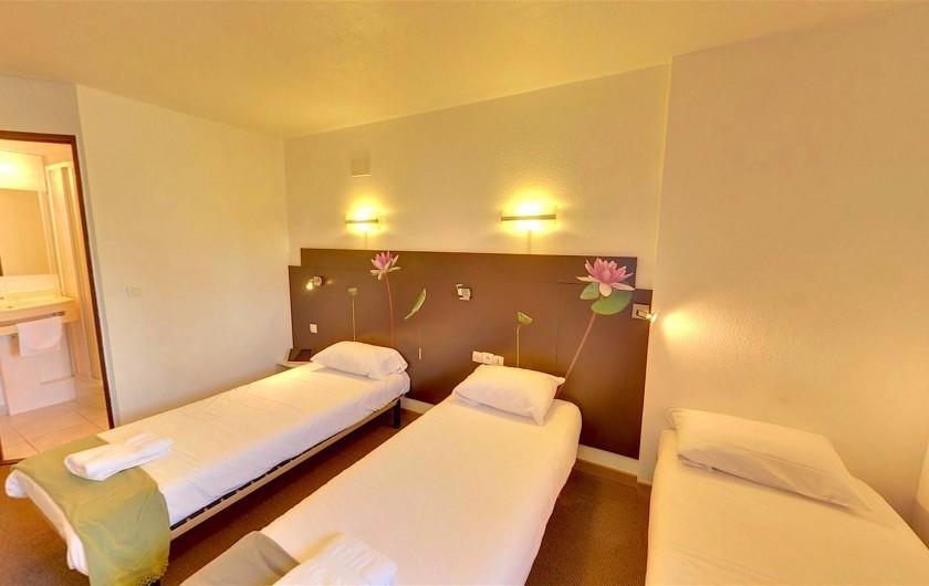 Location de vacances - Hôtel - Auberge à Villeneuve-lès-Béziers - Chambre Triple 3 lits simple