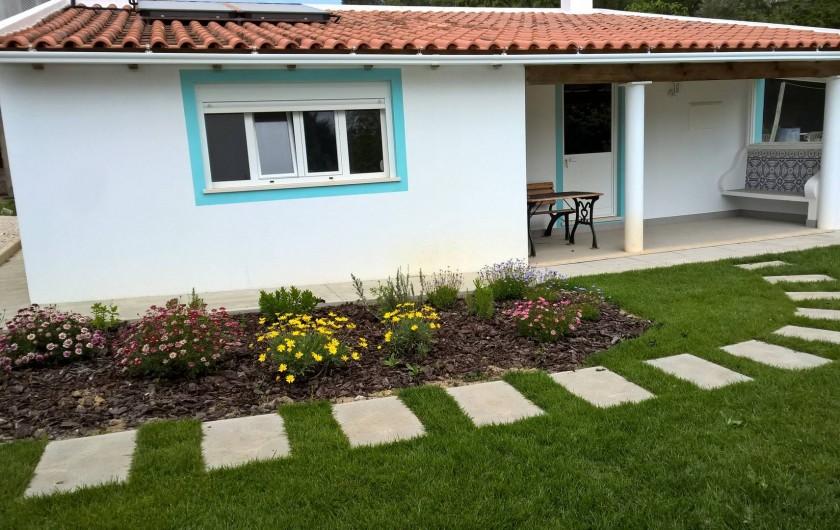 Location de vacances - Maison - Villa à Casal da Granja - Casa Pequena jardin