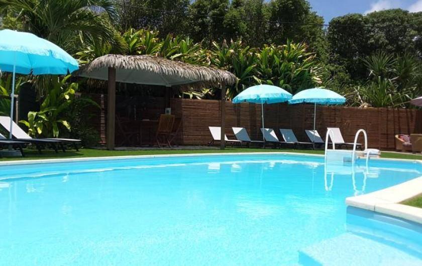Location de vacances - Hôtel - Auberge à Capesterre-de-Marie-Galante - Espace piscine de l'hôtel