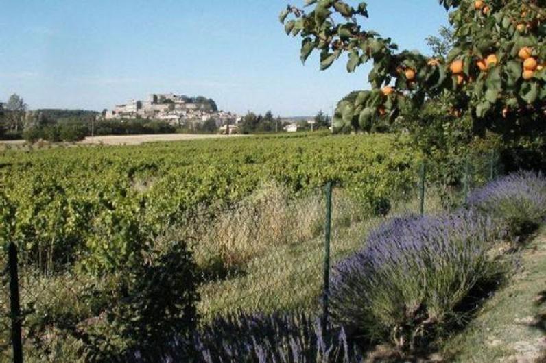 Location de vacances - Appartement à Grignan - Vue depuis jardin villa