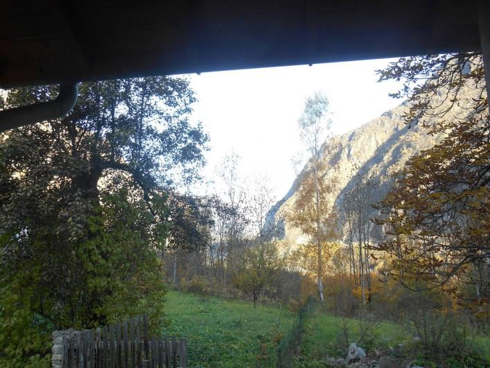 Location de vacances - Appartement à Vénosc - Vue sur la vallée de Bourg d'Oisans