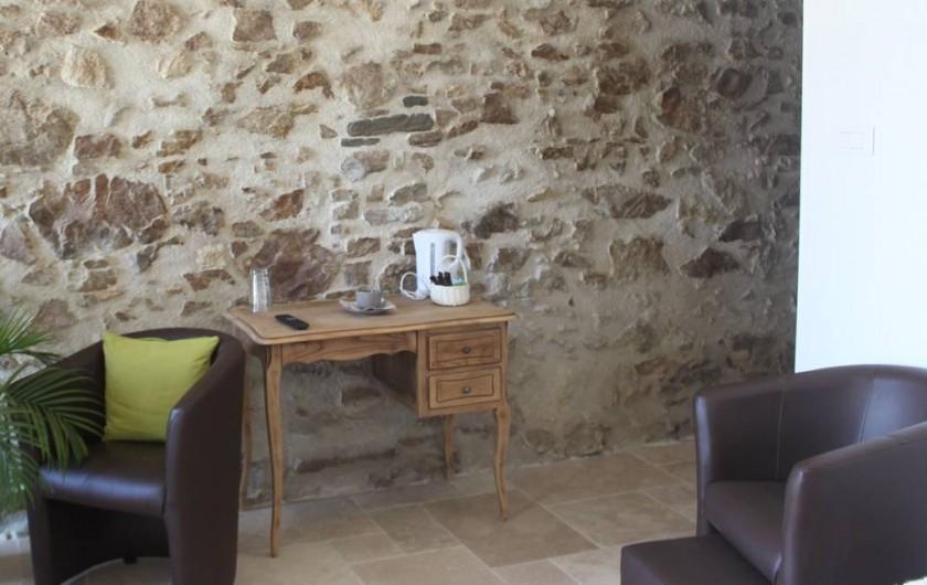 Location de vacances - Chambre d'hôtes à Saint-André-de-la-Marche - Chambre Nature: espace bureau