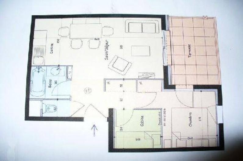 Location de vacances - Appartement à Abries - plan de l'appartement
