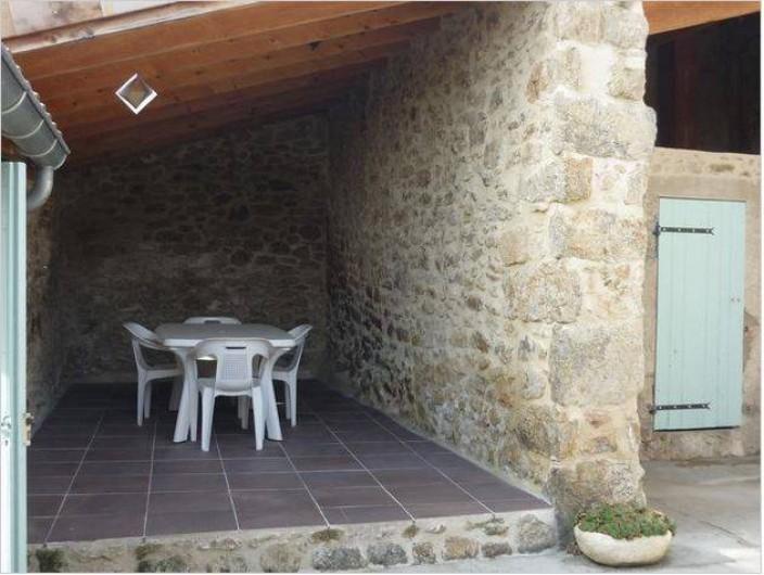 Location de vacances - Appartement à Étables - terrasse couverte
