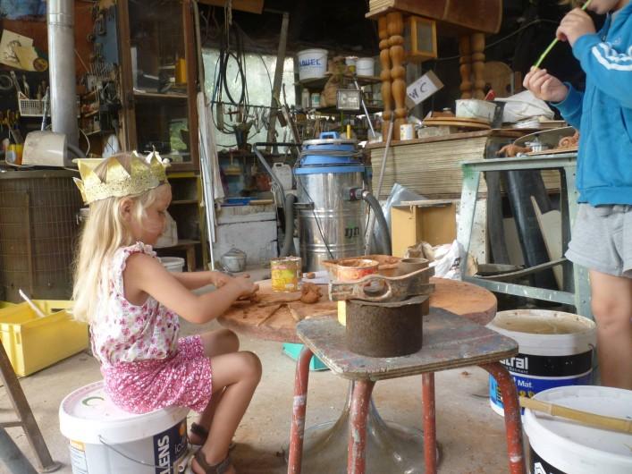 Location de vacances - Gîte à Saint-Privat - Dans l'atelier