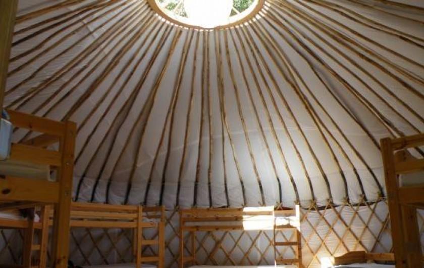 Location de vacances - Yourte à La Grève-sur-Mignon - yourte dortoir (12 à 14p) : lits superposés et lits simples