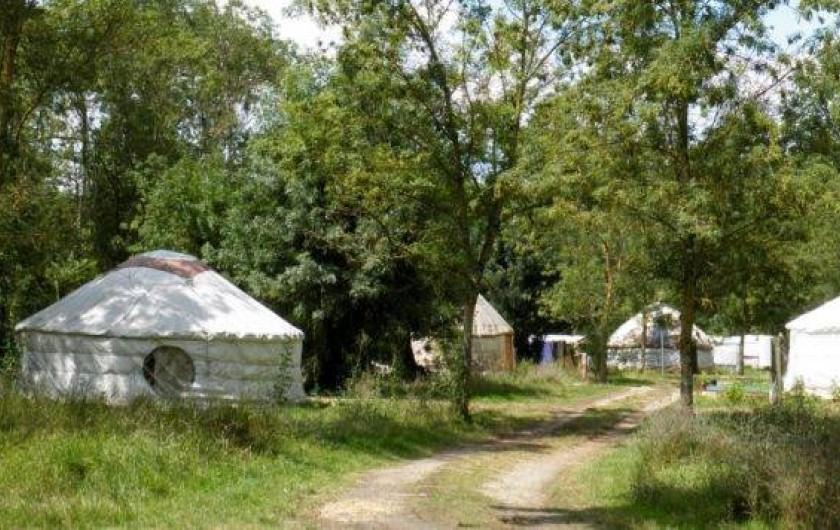 Location de vacances - Yourte à La Grève-sur-Mignon - espace yourtes