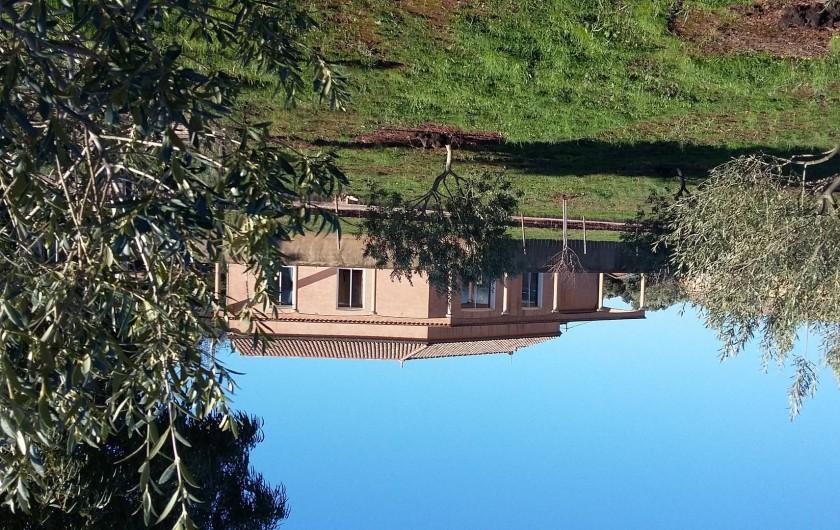 Location de vacances - Villa à Le Puech - Vue côté village.