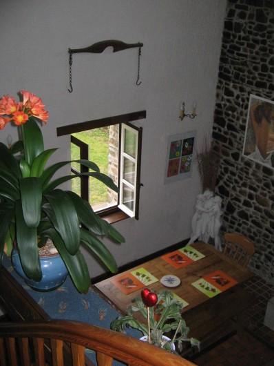 Location de vacances - Gîte à Pirou - vue d'en haut du coin repas