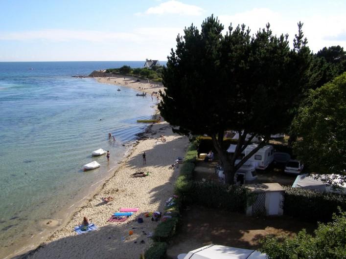 Location de vacances - Camping à Bénodet - la plage le long du camping