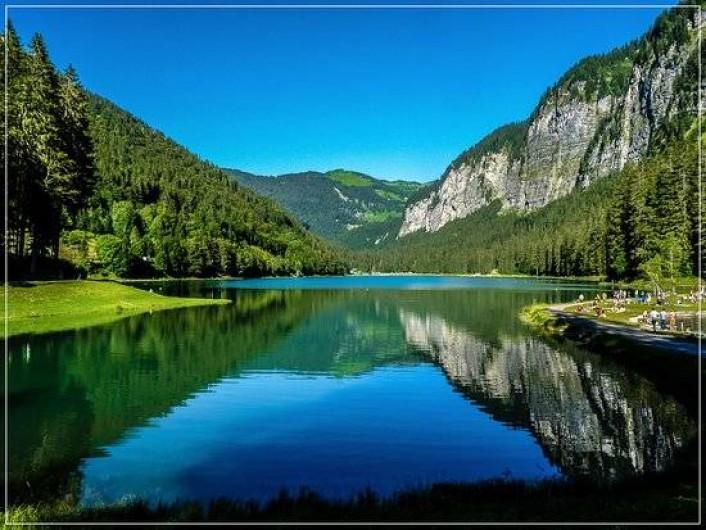 Location de vacances - Chalet à Le Praz de Lys - Lac de Montriond environ 23°C l'été à 25 minutes de voiture