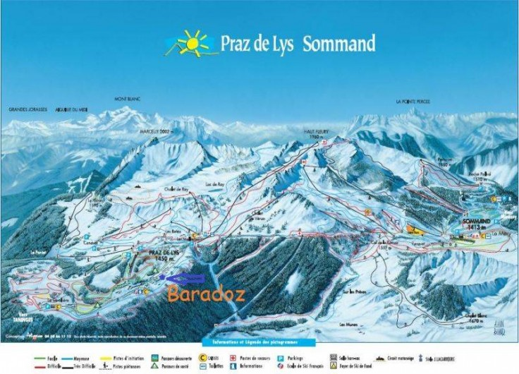 Location de vacances - Chalet à Le Praz de Lys - plan des pistes