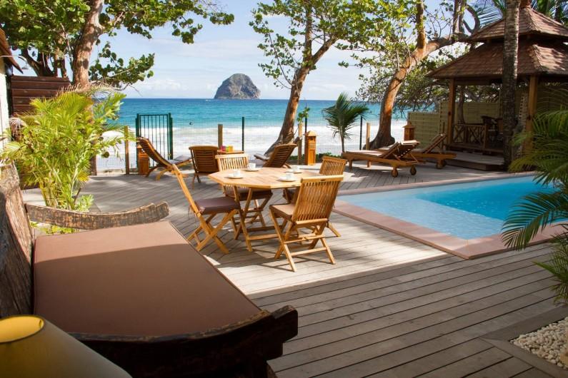 Location de vacances - Villa à Le Diamant - profitez de la vue depuis la cuisine
