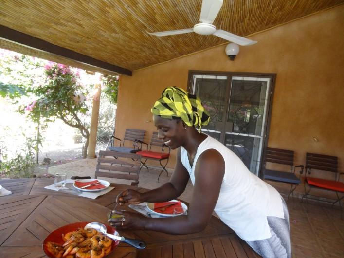 Location de vacances - Maison - Villa à Nianing - Clotilde et ses fameuses spécialités sénégalaises!