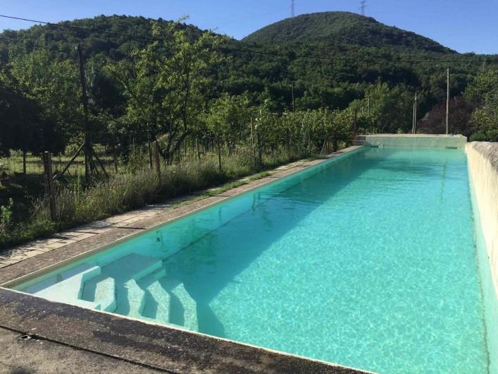 Location de vacances - Gîte à Mirmande - la piscine 18x4 m