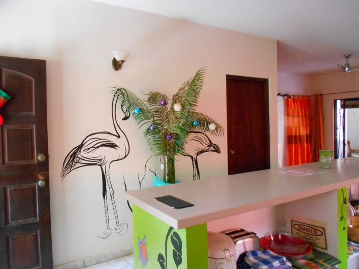Location de vacances - Bungalow - Mobilhome à Santa Catharina - wall decoration flamingo style
