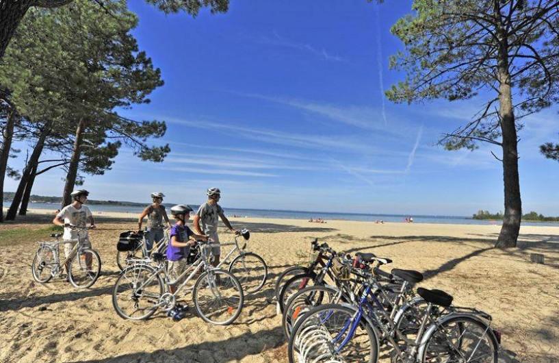 Location de vacances - Bungalow - Mobilhome à Biscarrosse - Plage de sable fin sous les Pins au Lac de Biscarrosse