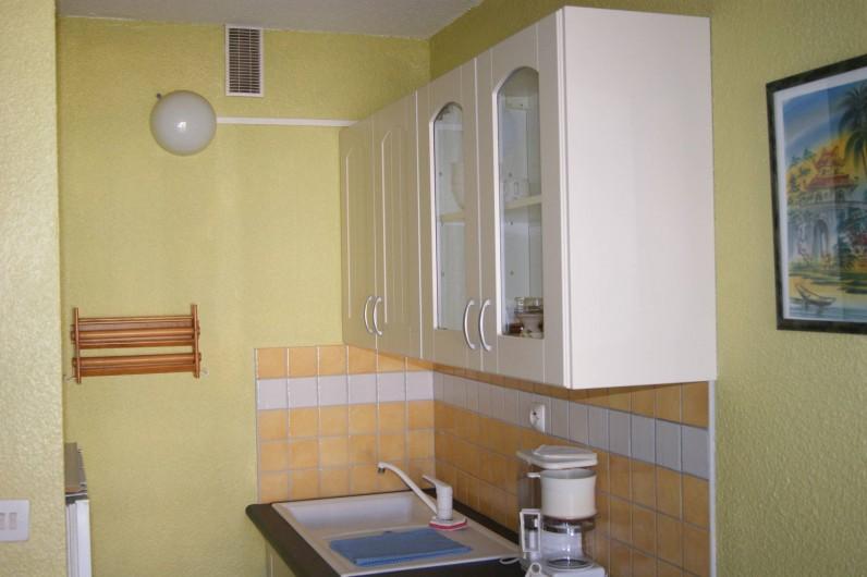 Location de vacances - Appartement à Le Barcarès - le coin cuisine vue 1