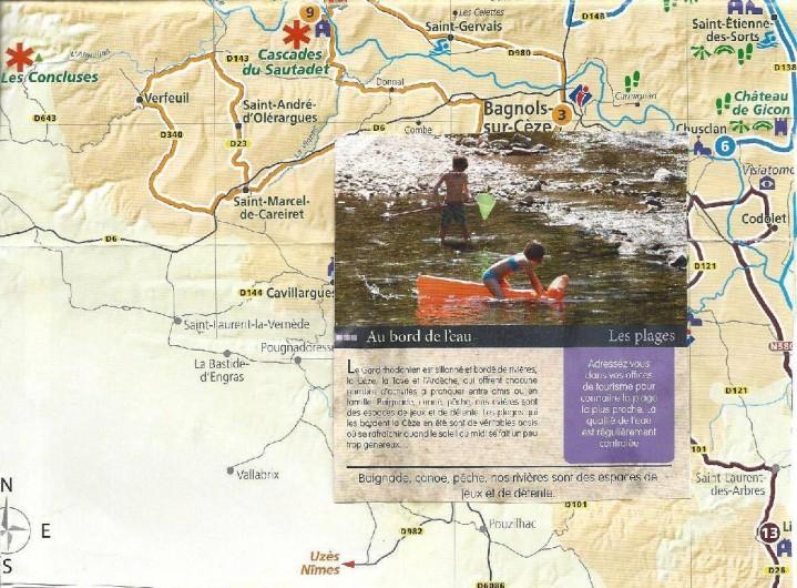 Location de vacances - Gîte à Bagnols-sur-Cèze - Bagnols sur cèze,sa  rivière sa plage  ,baignade, jeux,  détente,canoë, pêche,