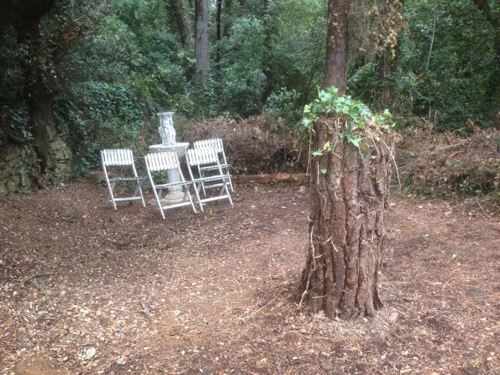 Location de vacances - Gîte à Bagnols-sur-Cèze - espace ombragé détente,  entouré de chênes  et oiseaux, calme assuré