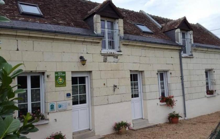 Location de vacances - Gîte à Bréhémont - façade de devant