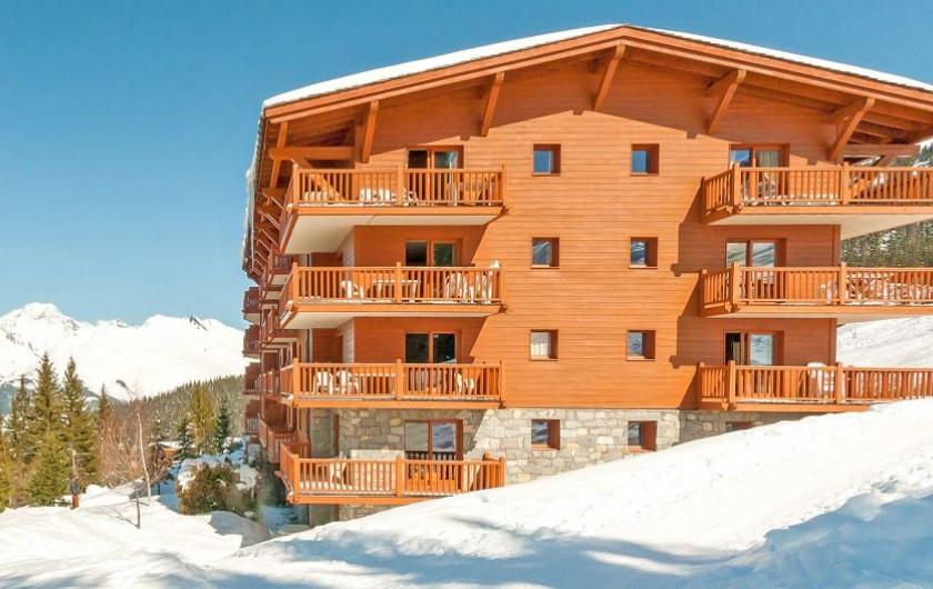Location de vacances - Appartement à Arc 1800 - L'appartement est dans un superbe immeuble-chalet directement sur les pistes