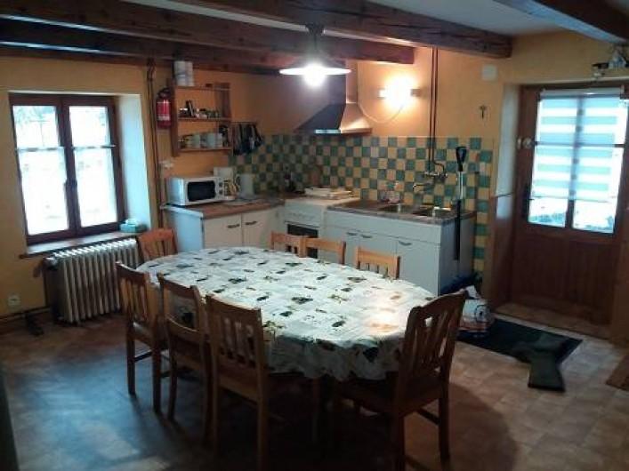 Location de vacances - Gîte à Rochesson - Cuisine - Salle à manger Grand Gite