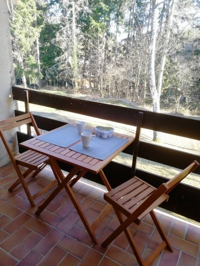 Location de vacances - Appartement à Labaroche - Le balcon donnant sur un espace vert commun à la résidence