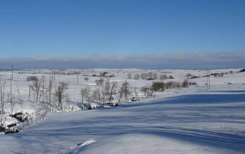 Location de vacances - Chambre d'hôtes à Saint-Urcize - Paysages d'hiver !