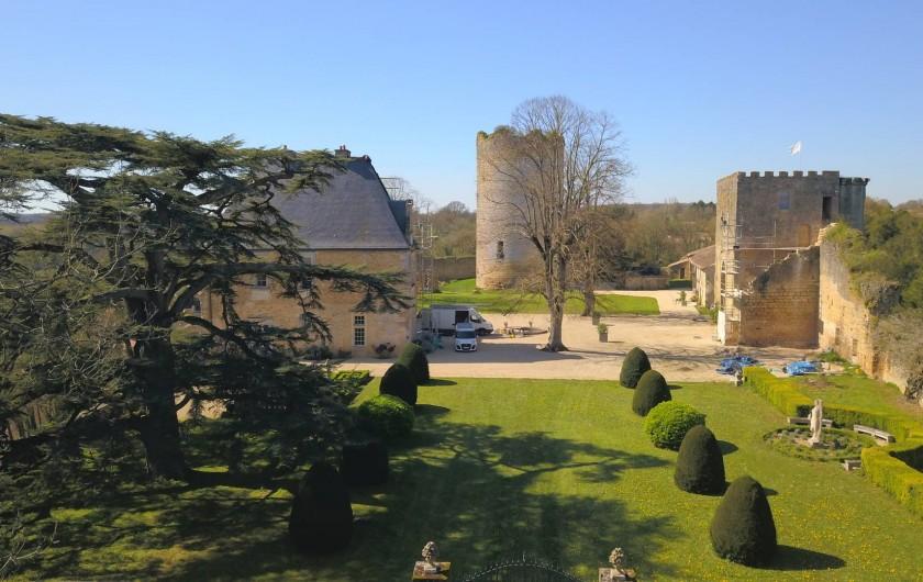 Location de vacances - Château - Manoir à Montreuil-Bonnin - Vue aérienne