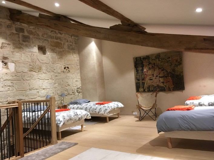 Location de vacances - Château - Manoir à Montreuil-Bonnin - chambre de la dépendance (en option)