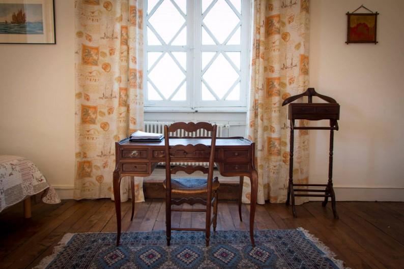 Location de vacances - Château - Manoir à Montreuil-Bonnin - Détail de la chambre voyages