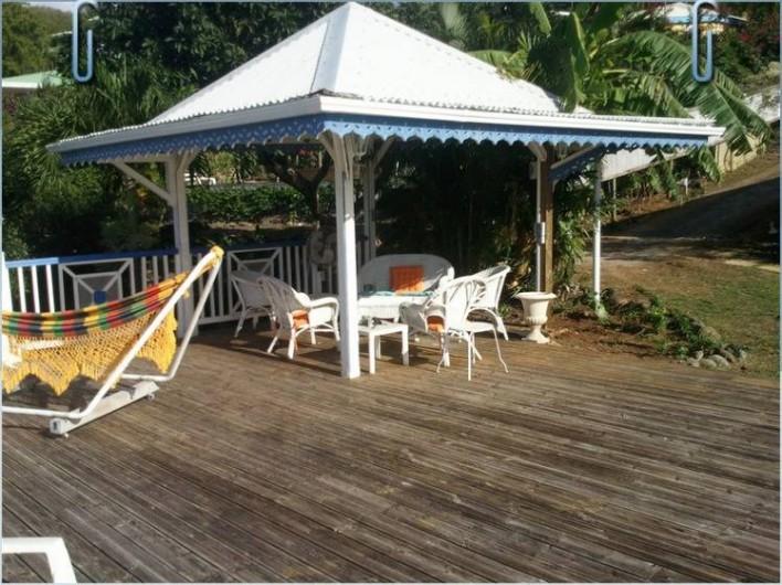 Location de vacances - Villa à Deshaies - coin de détente sous le carbet