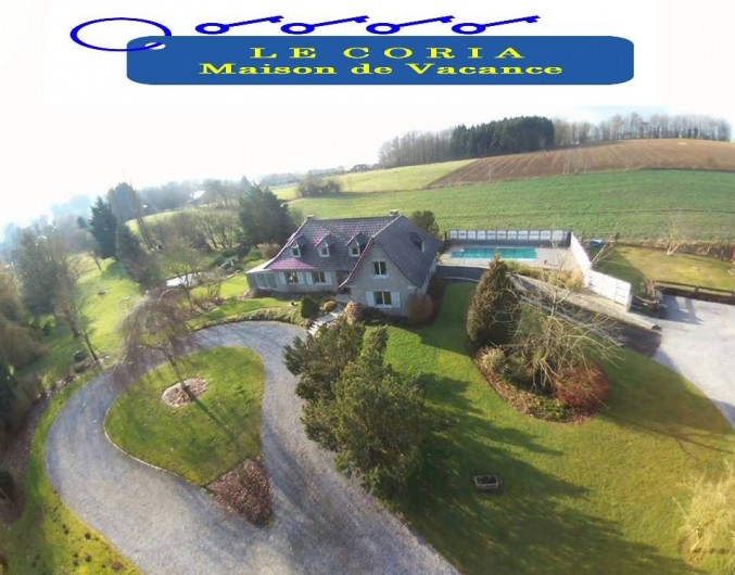 Location de vacances - Villa à Achet - Maison de vacance vue d'ensemble LE CORIA