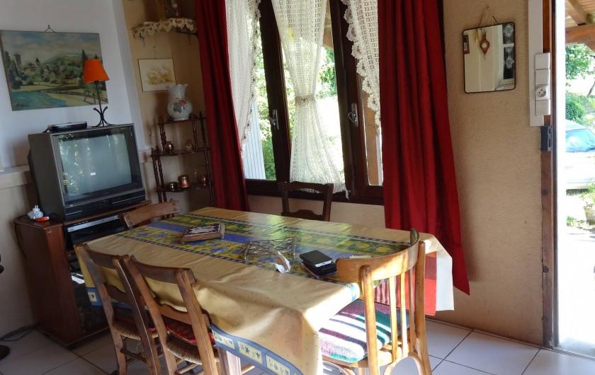 Location de vacances - Maison - Villa à Teyssieu - Véranda/salle à manger