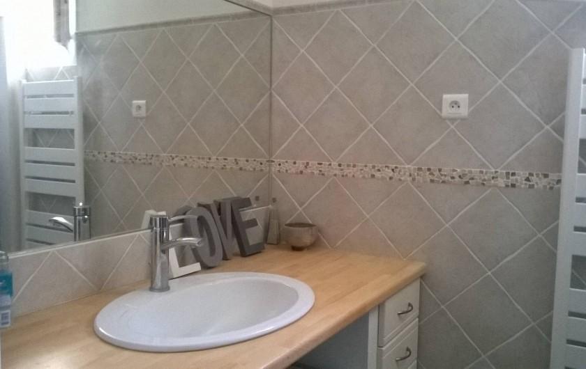 Location de vacances - Villa à Saint-Martin-de-la-Brasque - salle de bains