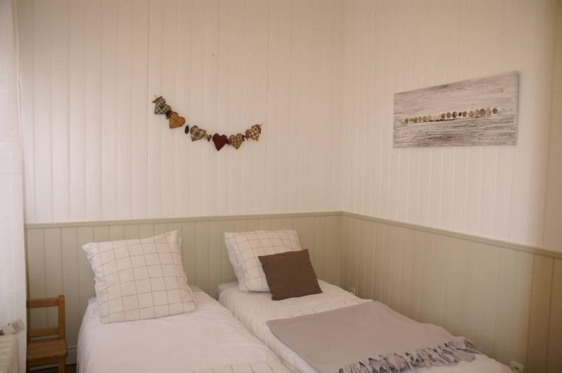 Location de vacances - Appartement à Le Touquet-Paris-Plage - Chambre enfants 2 lits séparés ou jumelables au choix.