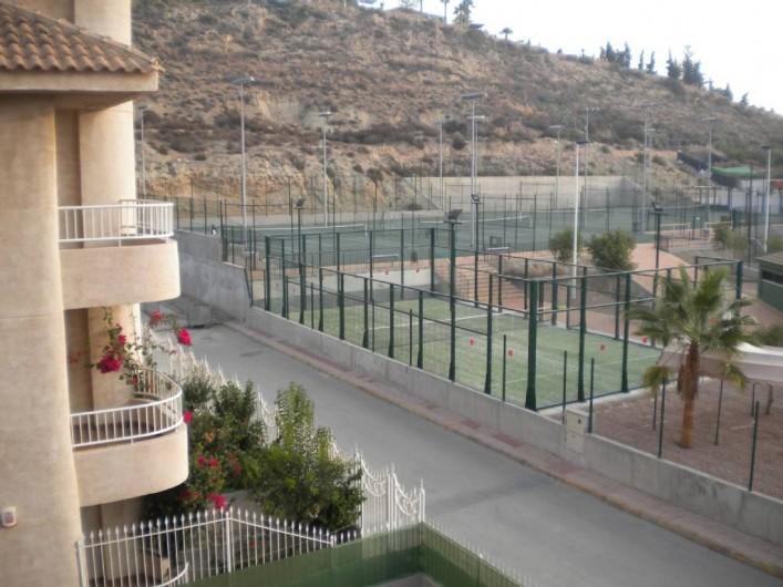 Location de vacances - Appartement à Puerto de Mazarrón - TENNIS -PING PONG-BASKET EN FACE