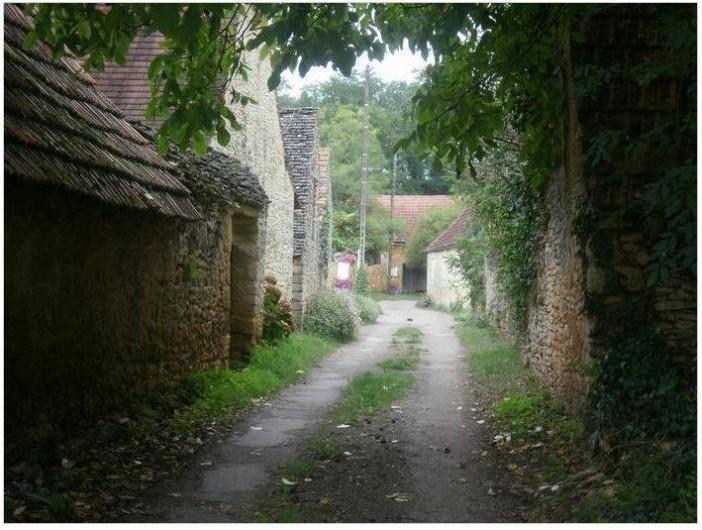Location de vacances - Gîte à Saint-Cyprien - chemin et hameau à l'arrivée