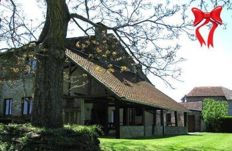 Location de vacances - Gîte à Xhierfomont - Le gite Au Vieux Noyer avant l'aménagement du jardin.
