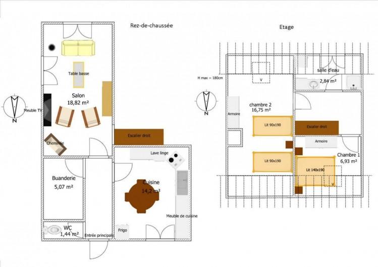 Location de vacances - Gîte à Gap - Plan du logement