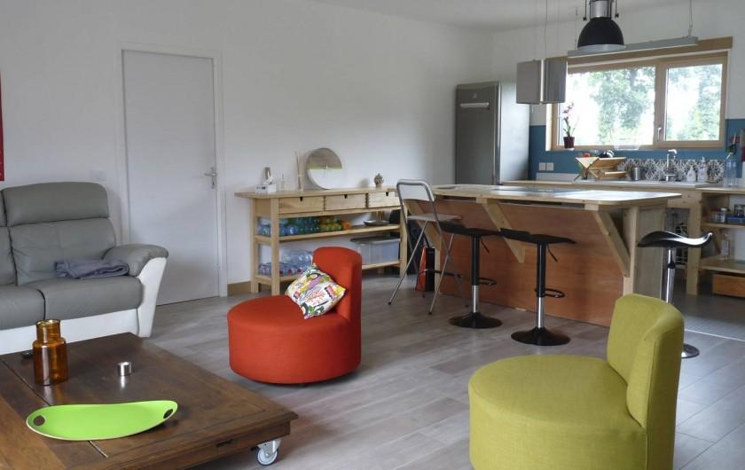 Location de vacances - Appartement à Ploufragan - GITE 80 M2 CUSINE OUVERTE SUR SALON : LE HANGAR