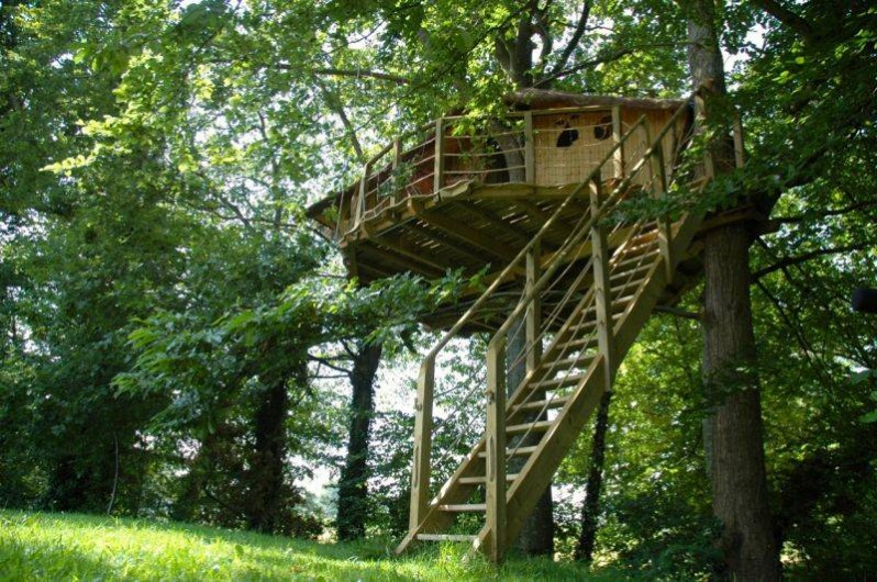 Location de vacances - Cabane dans les arbres à Saint-Pierre-de-Plesguen - Cabanes