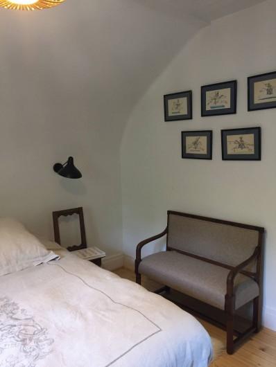 Location de vacances - Chalet à Megève - L'une des 3 chambres du haut avec son lit 160 cm
