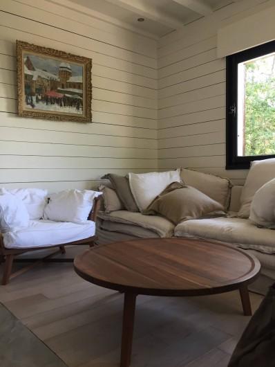 Location de vacances - Chalet à Megève - Le salon cosy et confortable